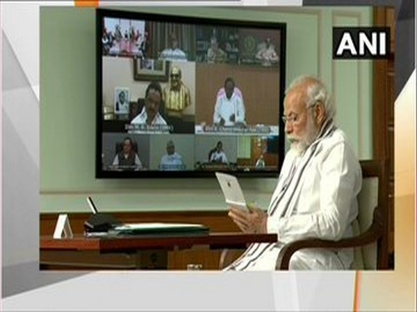 Prime Minister Narendra Modi during all party meeting on June 19