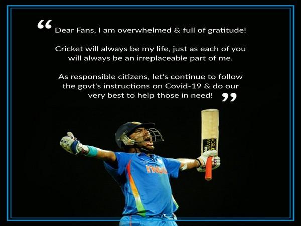 Former Indian cricketer Yuvraj Singh (Photo/ Yuvraj Singh Twitter)