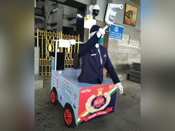 Railway Protection Force, Pune launched CAPTAIN ARJUN robot to screen passengers (Photo/ANI)