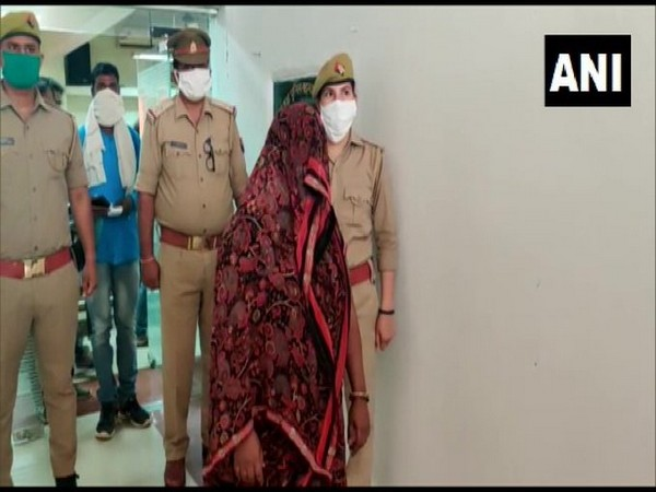 Anita Devi from Mainpuri was arrested for using forged documents to secure a job at a school. [Photo/ANI]