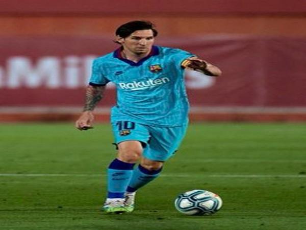 Argentine striker Lionel Messi. (Photo/ Ravi Shastri Twitter)