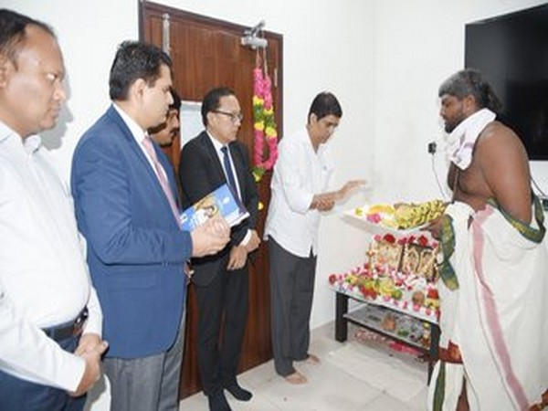 Andhra Pradesh Finance Minister Buggana Rajendranath performed special prayers in his chamber in Amaravati.