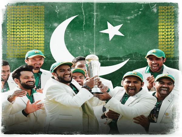 Pakistan celebrates after winning 2017 Champions Trophy (Photo/ ICC Twitter)