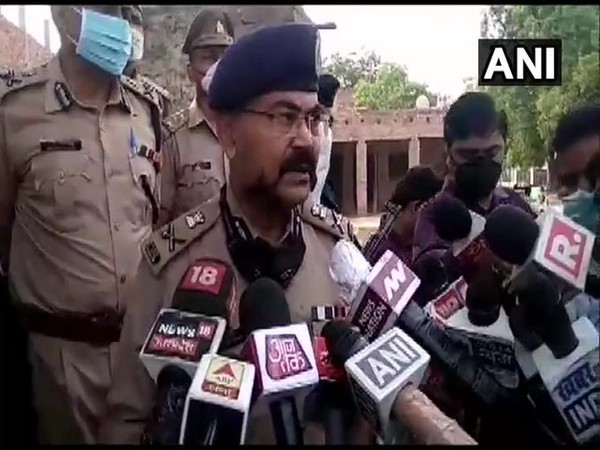 Additional Director General (ADG) Law and Order Prashant Kumar speaking to reporters on Friday. (Photo/ANI)