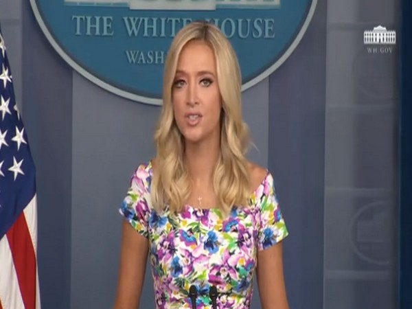 White House press secretary Kayleigh McEnany speaking during press briefing on Wednesday (local time).