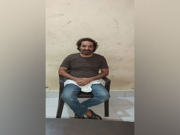 The accused Khalid Ajim, arrested by the police. [Photo/ANI]