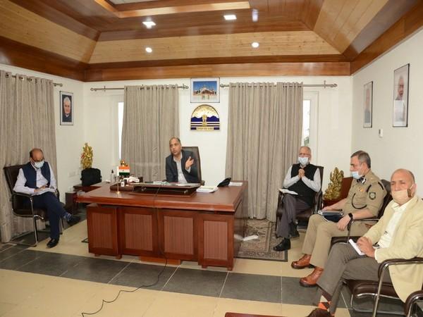 Himachal Pradesh Chief Minister Jai Ram Thakur addressing a video conference on Monday (Photo/ANI)