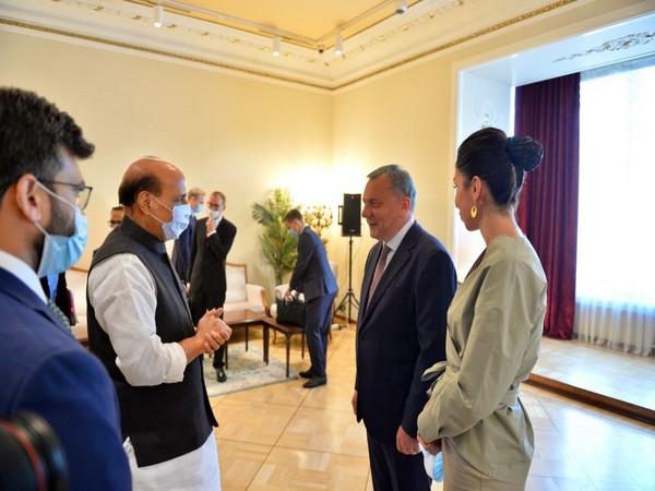 Defence Minister Rajnath Singh meets Russian Deputy Prime Minister Yury Ivanovich Borisov