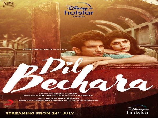 Poster of the film 'Dil Bechara' (Image Source: Twitter)