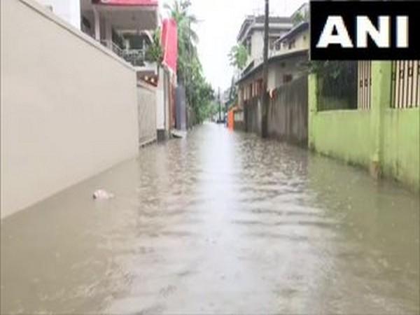 Heavy rains caused water logging in Assam's Guwahati (Photo/ANI)