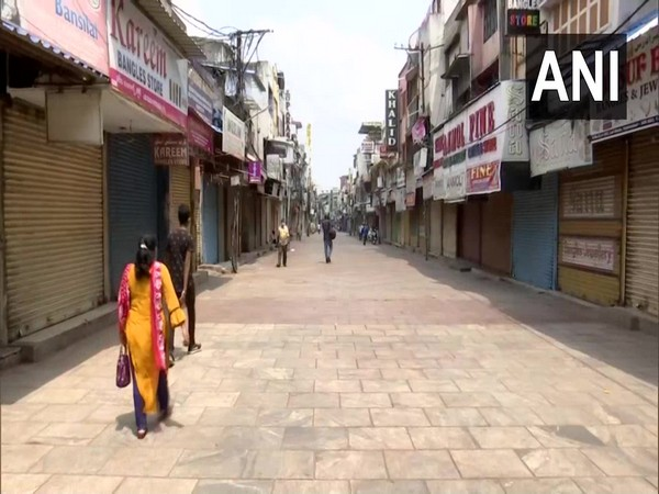 Closed shops in Hyderbad's Charminar market on Saturday.