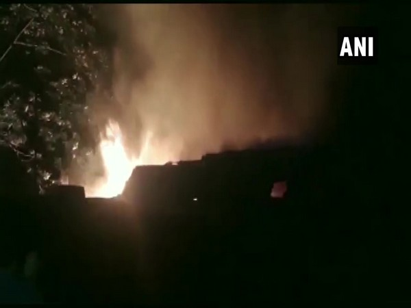 A furniture warehouse caught fire in Asansol, West Bengal on Monday night.