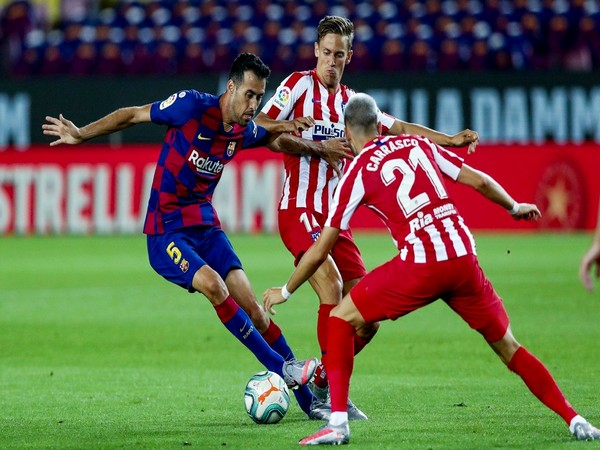 Barcelona played out a 2-2 draw against Atletico Madrid here on Wednesday. (Photo/ Barcelona Twitter)