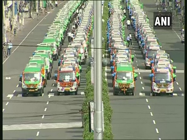 Andhra Pradesh Chief Minister launched a fleet of 1,088 new ambulances in Vijayawada