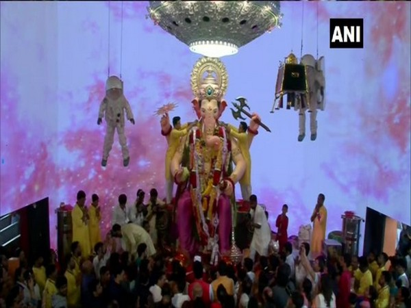 Ganpati idol at Lalbaughcha Raja. (File Photo/ANI)