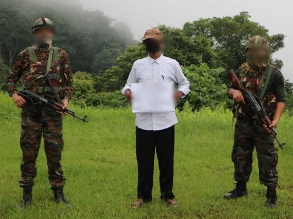 The ULFA (I) cadre was apprehended near Lalpahar, Lekhapani in Tinsukia district of Assam recently. [Photo/ANI]