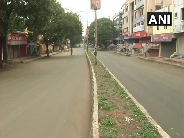 Streets in Kalaburagi wore a deserted look on Tuesday after a fresh lockdown was announced.