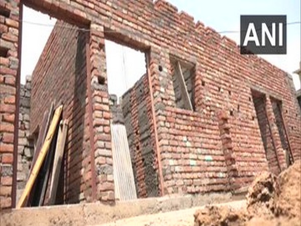 Houses under the PMAYG scheme underway in Udhampur, Jammu and Kashmir