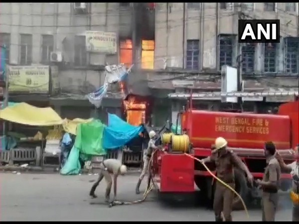 Fire breaks out in Kolkata's Canning Street on Sunday