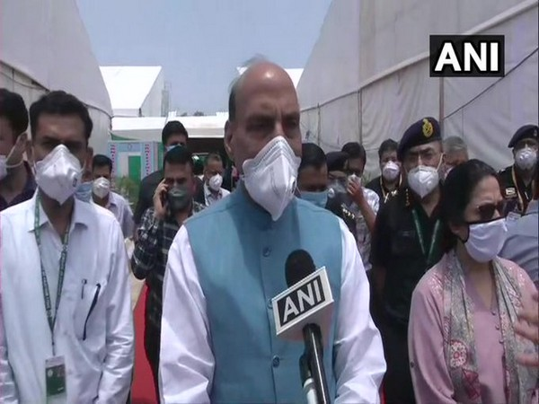 Defence Minister Rajnath Singh speaking to ANI on Sunday. [Photo/ANI]