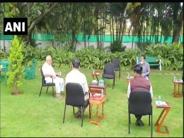 Karnataka Chief Minister BS Yediyurappa held an emergency meeting over COVID-19 situation in the state. [Photo/ANI]