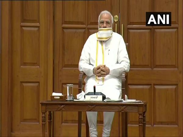 PM Narendra Modi chairing Union Cabinet meeting on Wednesday. (Photo/ANI)