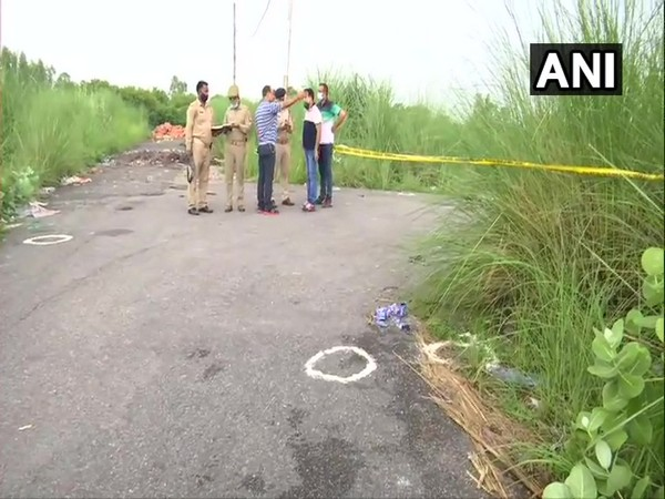 Visuals of the encounter site in Kanpur. (Photo/ANI)