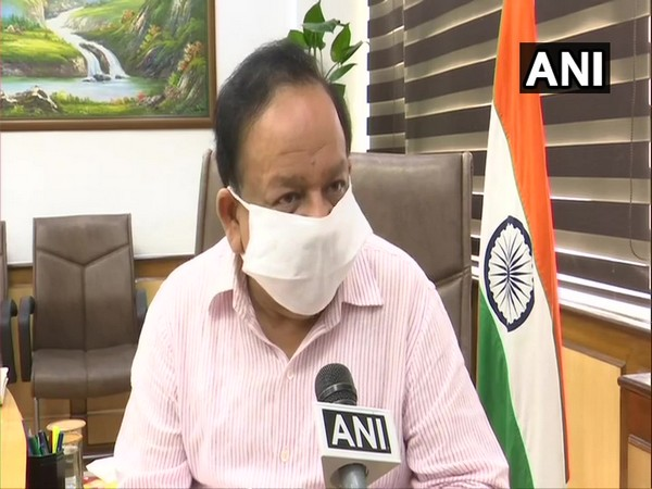 Union Health Minister Harsh Vardhan speaking to ANI in New Delhi on Friday.