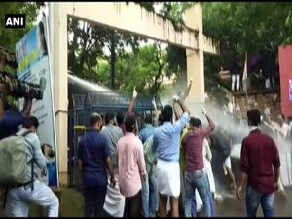 Visual from the site where members of Youth League were protesting. (Photo/ANI)