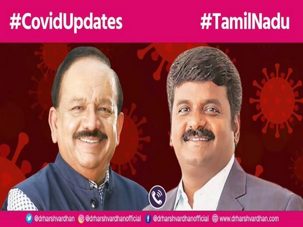Union Health Minister Harsh Vardhan (left) and Tamil Nadu Health Minister C Vijayabaskar (right) (Photo/Twitter/Dr. Harsh Vardhan)