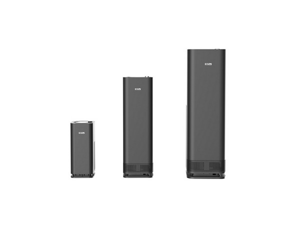 Ecolink air purifier with UV-C technology, in three sizes for efficient performance in varied room sizes
