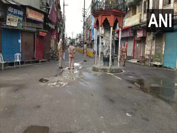 Visual from UP's Moradabad which is under COVID-19 lockdown. (Photo/ANI)