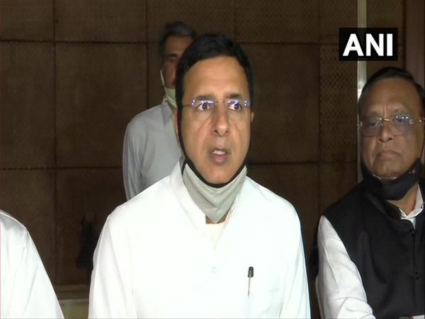 Senior Congress leader and spokesperson Randeep Singh Surjewala. (Photo/ANI)