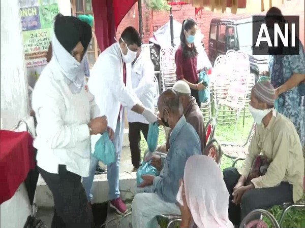 The department of AYUSH along with an NGO, Pritham Spiritual Foundation distributed free medicines to disabled people.