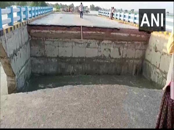 Visual of the collapsed bridge site. (Photo/ANI)