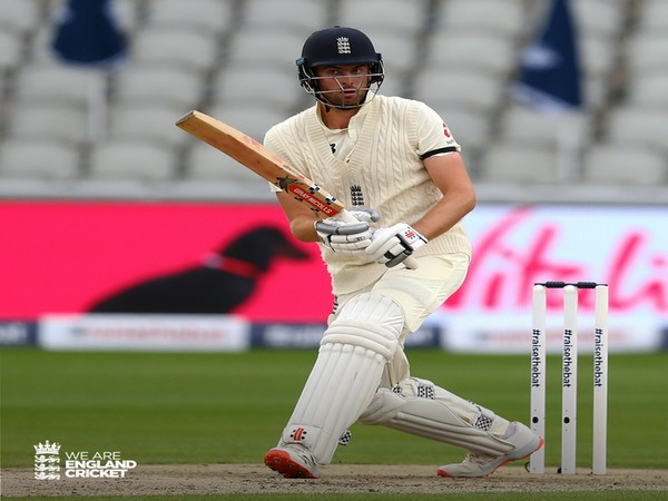 England opening batsman Dom Sibley in action against Windies (Photo/ England Cricket Twitter)