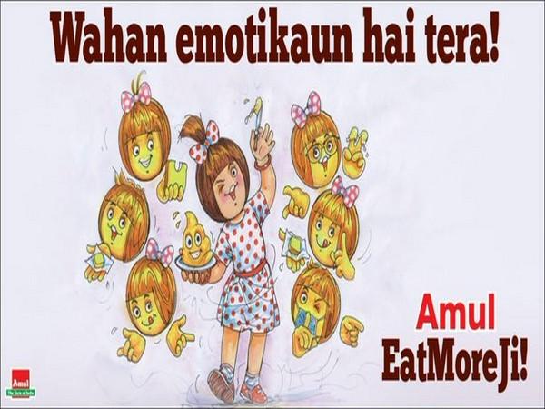 Amul's new doodle celebrating World Emoji Day (Image Source: Twitter)