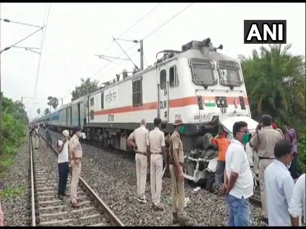 A car collided with Patna-Ranchi Janshatabdi Special on Saturday.