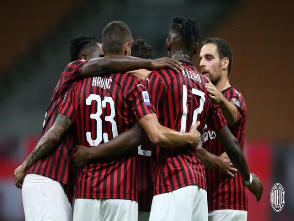 AC Milan will next take on Sassuolo on July 22. (Photo/ AC Milan Twitter)
