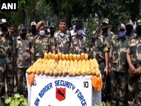 60 packets of heroin were recovered from the Ravi river in Gurdaspur, Punjab on Sunday.