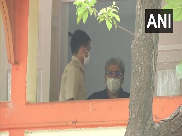 Film critic Rajeev Masand at Bandra police station on Tuesday. Photo/ANI
