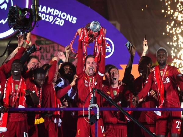 Liverpool 2019-20 Premier League winners (Photo/ Liverpool FC Twitter)