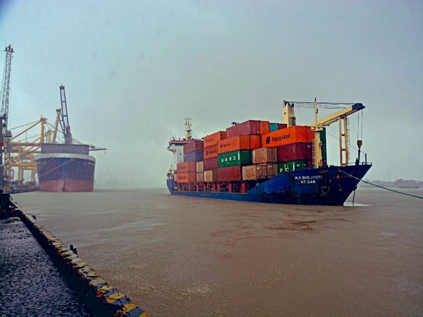 Container cargo reaches Agartala after travelling from Kolkata via Chattogram port in Bangladesh. (Photo credit: Anurag Srivastava Twitter)