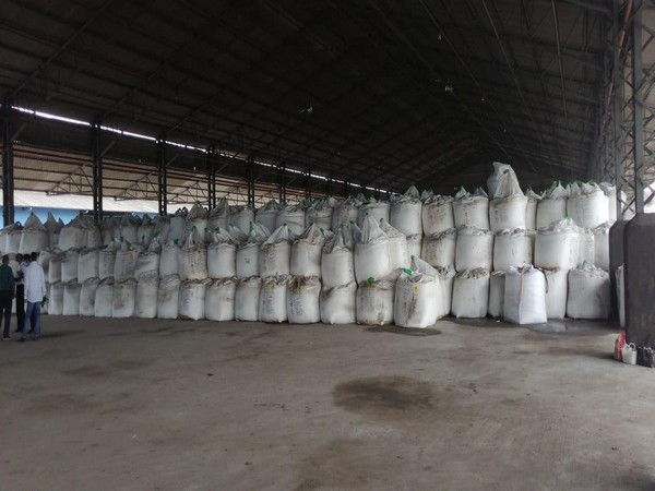 18000 tonnes of ammonium nitrate stored in a warehouse in Vishakhapatnam.