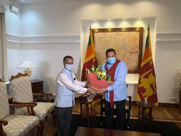 Indian High Commissioner here Gopal Baglay and Sri Lankan Prime Minister Mahinda Rajapaksa