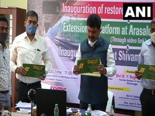 he Minister of State for Railways Suresh Angadi virtually inaugurating the 'Malgudi Museum' on Saturday