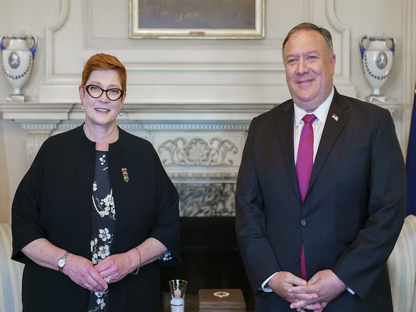 Australian Foreign Minister Marise Payne and US Secretary of State Michael Pompeo (Photo credits: Pompeo's Twitter)