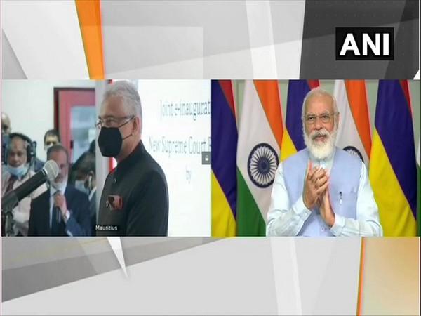 Prime Minister Narendra Modi and his Mauritian counterpart Pravind Jugnauth