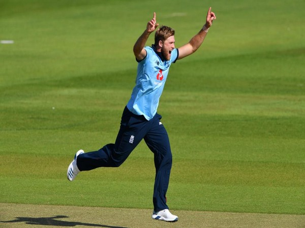 England's David Willey. (Photo/ ICC Twitter)