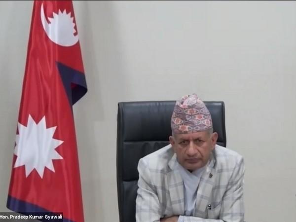 Nepal Foreign Affairs Minister Pradeep Kumar Gyawali during the webinar on Friday. Photo/ANI